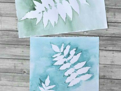 【夏の絵画制作】葉っぱを利用した絵画制作を考える