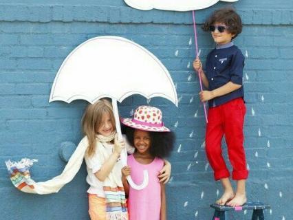 【3歳児クラス】雨をテーマにしたスタンプ遊び
