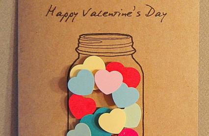 【バレンタイン】キュートなハートをつめこんだカード製作