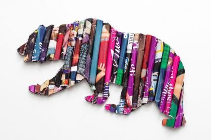 【製作】紙の棒で作る!リサイクルアート☆動物を製作