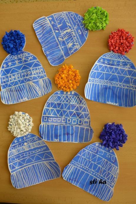 冬の製作 帽子