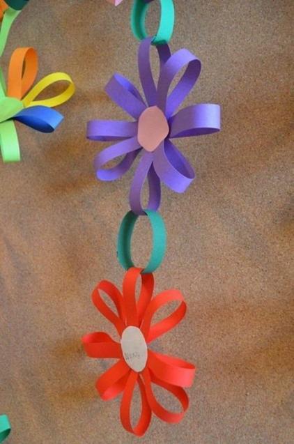 春の製作物 立体の花